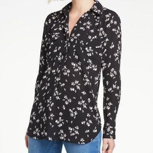 **NWT** Ann Taylor Factory Floral Popover Camp Top